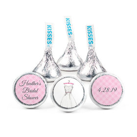 Personalized Bonnie Marcus Bridal Shower Wedding Dress Hershey's Kisses (50 pack)