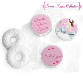 Personalized Bonnie Marcus Wedding Beautiful Bride with Bow Brunette Life Savers Mints