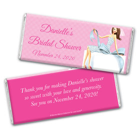 Personalized Bonnie Marcus Bridal Shower Brunette Bride Chocolate Bar Wrappers Only
