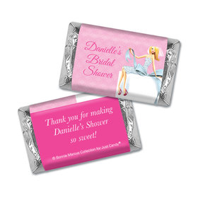 Personalized Bonnie Marcus Bridal Shower Beautiful Bride with Bow Blonde Mini Wrappers Only