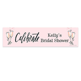 Personalized Bridal Shower The Bubbly 5 Ft. Banner