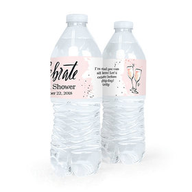 Personalized Bridal Shower Bubbly Water Bottle Sticker Labels (5 Labels)