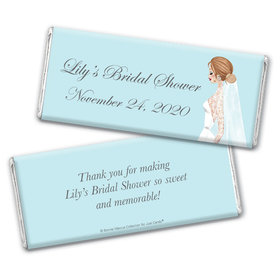 Personalized Bonnie Marcus Bridal Shower Vintage Veil Chocolate Bar Wrappers Only