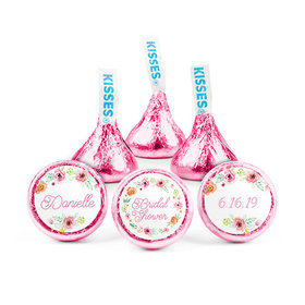 Personalized Bonnie Marcus Bridal Shower Water Color Blossoms Hershey's Kisses (50 pack)