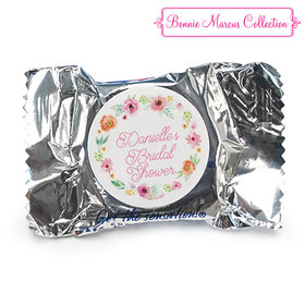 Personalized Bonnie Marcus Wedding Water Color White Blossoms York Peppermint Patties