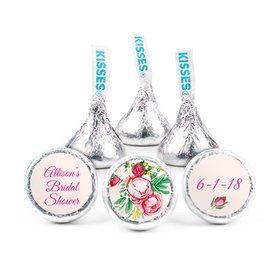 Personalized Bonnie Marcus Bridal Shower Fabulous Floral Hershey's Kisses (50 Pack)