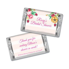 Personalized Bonnie Marcus Bridal Shower Fabulous Floral Mini Wrappers Only