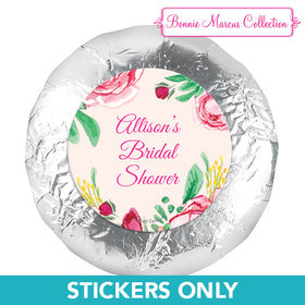 "Personalized Bridal Shower Fabulous Floral 1.25"" Stickers (48 Stickers)"
