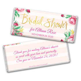 Personalized Bonnie Marcus Bridal Shower Fabulous Floral Chocolate Bar Wrappers Only