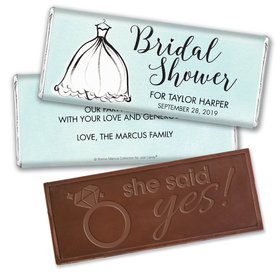Personalized Bonnie Marcus Birdal Shower Elegance Embossed Chocolate Bar & Wrapper
