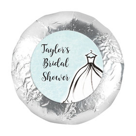 """Personalized Bridal Shower Elegance 1.25"""" Stickers (48 Stickers)"""