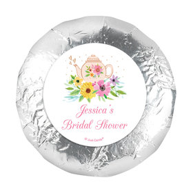 "Personalized Bridal Shower Garden Tea Party 1.25"" Stickers (48 Stickers)"