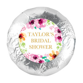 "Personalized Bridal Shower Botanical Bubbly 1.25"" Stickers (48 Stickers)"