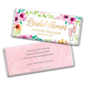 Personalized Bonnie Marcus Bridal Shower Botanical Bubbly Chocolate Bar Wrappers