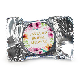 Personalized Bridal Shower Botanical Bubbly York Peppermint Patties