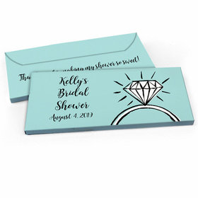 Deluxe Personalized Bridal Shower Last Fling Candy Bar Favor Box