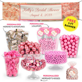 Personalized Bridal Shower Blooming Joy Deluxe Candy Buffet