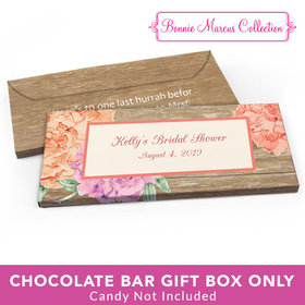 Deluxe Personalized Bridal Shower Blooming Joy Candy Bar Favor Box