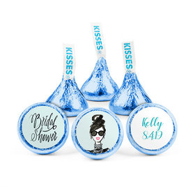 Personalized Bonnie Marcus Bridal Shower Showered in Vogue Hershey's Kisses (50 pack)