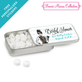 Bonnie Marcus Collection Personalized Mint Tin Bridal Shower Showered in Vogue Personalized (12 Pack)