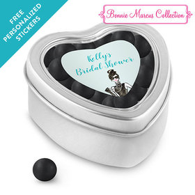 Bonnie Marcus Collection Personalized Small Heart Tin Bridal Shower Showered in Vogue Personalized (25 Pack)