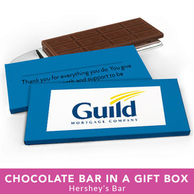 Deluxe Personalized Business Add Your Logo Chocolate Bar in Gift Box