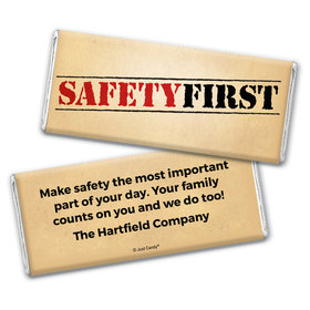 "Personalized Chocolate Bar Wrappers ""Safety First"" National Safety Month"