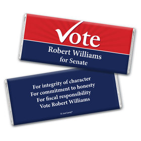 Election Campaigns Personalized Chocolate Bar Wrappers Election Vote Yes