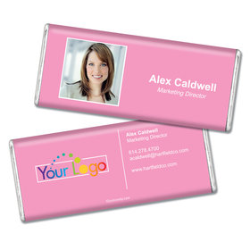 Business Promotional Personalized Chocolate Bar Headshot Business Card
