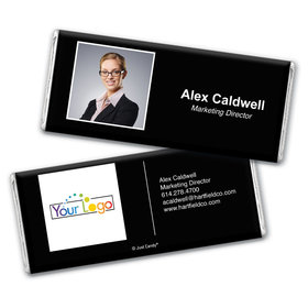 Business Promotional Personalized Chocolate Bar Wrappers Headshot Business Card