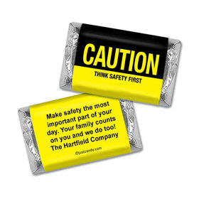 Personalized Business Promotional Caution Think Safety First Hershey's Miniature Wrappers Only