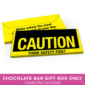 Deluxe Personalized Business Caution Candy Bar Favor Box