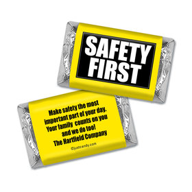 Personalized Business Promotional Safety First Hershey's Miniature Wrappers Only