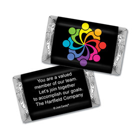 Personalized Business Team All Hands In Teamwork Hershey's Miniature Wrappers Only