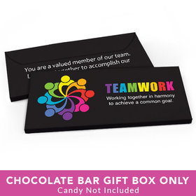 Deluxe Personalized Business All Hands In Teamwork Candy Bar Favor Box