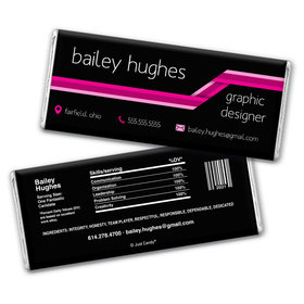 Personalized Resume Stripes Chocolate Bar Wrappers