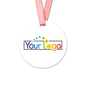 Personalized Round Add Your Logo Favor Gift Tags (20 Pack)
