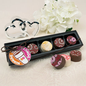Personalized Valentine's Day Add Your Logo Gourmet Belgian Chocolate Truffle Gift Box (5 Truffles)