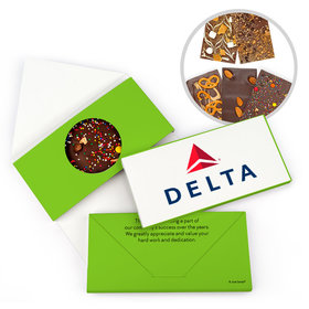Personalized Business Add Your Logo Gourmet Infused Belgian Chocolate Bars (3.5oz)