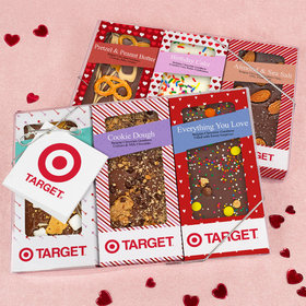 Personalized Valentine's Day Add Your Logo Gourmet Infused Belgian Chocolate Bars (6 pack)
