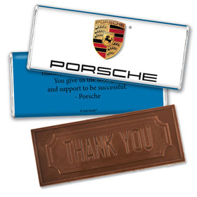 Personalized Business Add Your Logo Embossed Thank You Chocolate Bar