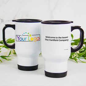 Personalized Stainless Steel Travel Mug (14oz) - Add Your Logo