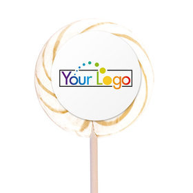 "Personalized Add Your Logo 3"" Swirly Pop (12 Pack)"