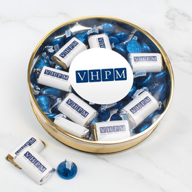 Personalized Add Your Logo Large Plastic Tin Hershey's Kisses and Miniatures
