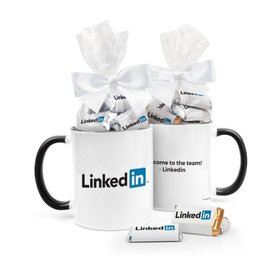 Personalized Business Add Your Logo 11oz Mug with Hershey's Miniatures