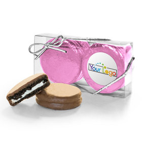 Personalized Add Your Logo First 2PK Chocolate Covered Oreo Cookies
