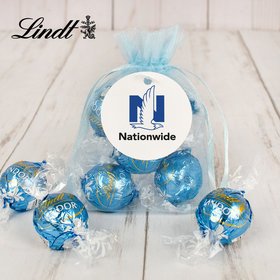 Personalized Add Your Logo Lindt Truffle Organza Bag