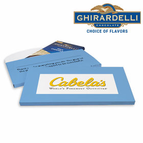 Deluxe Personalized Business Add Your Logo Ghirardelli Peppermint Bark Bar in Gift Box (3.5oz)