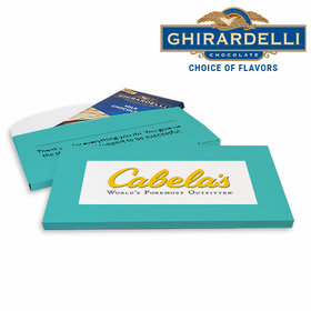 Deluxe Personalized Business Add Your Logo Ghirardelli Chocolate Bar in Gift Box