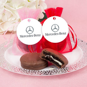 Personalized Valentine's Day Add Your Logo Chocolate Covered Oreo Cookies in Organza Bags